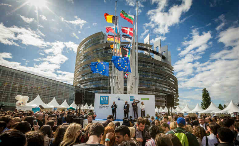 The inauguration of the European Parliament in Strasbourg. Photo: Claude Truong-Ngoc / Wikimedia Commons