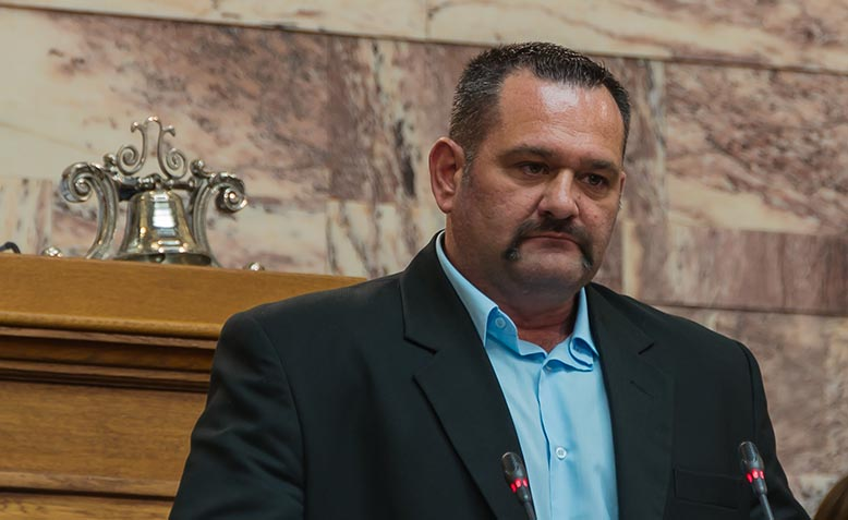 Ioannis Lagos, Greek MP and member of the neo-nazi Golden Dawn