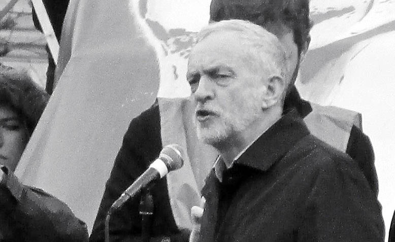 Jeremy Corbyn speaking at the 'Stop Trident' demonstration on 27th February 2016. Photo: Wikipedia