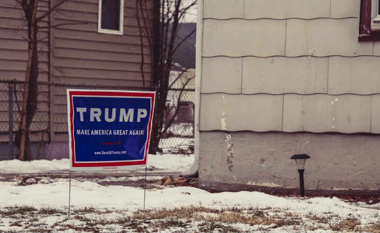 Make America Great Again, Trump 2016 Campaign Sign, Iowa, 2016