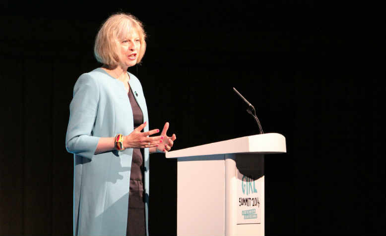 Theresa May speaking as Home Secretary, July 2014, London