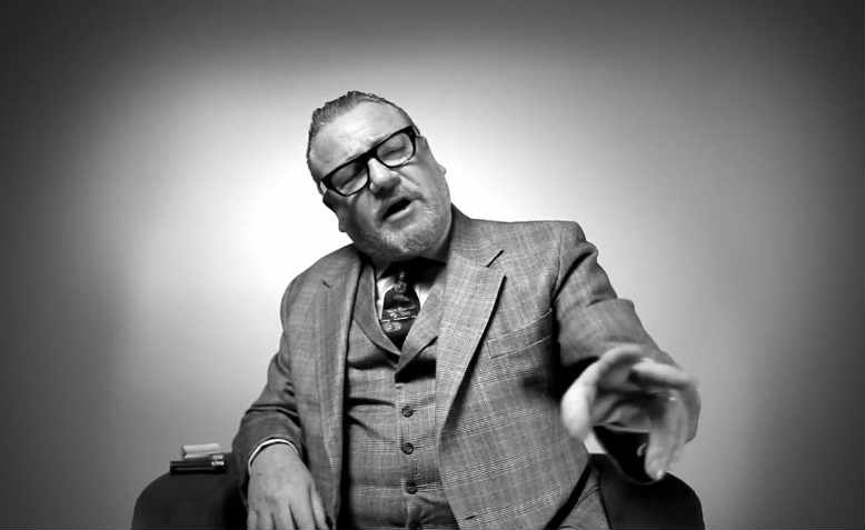 Hackney-born Ray Winstone holds court