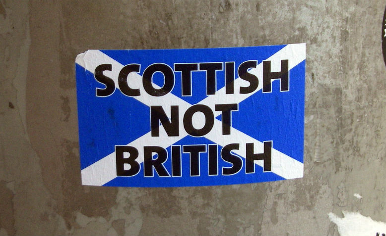 A Scottish independence poster from 2008