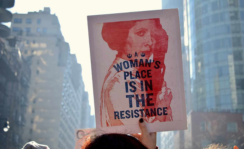 Princess Leia placard from the Women's March against Trump, January 2017