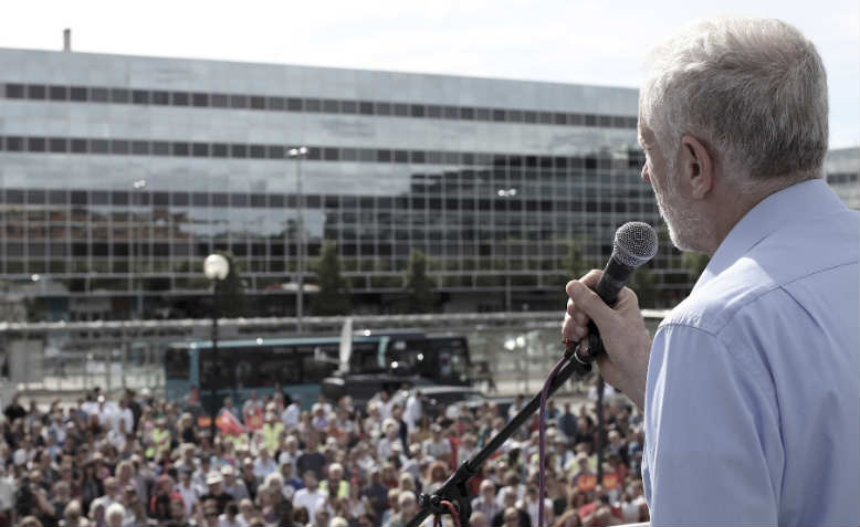 Jeremy Corbyn in Milton Keynes. Photo: David Bailey