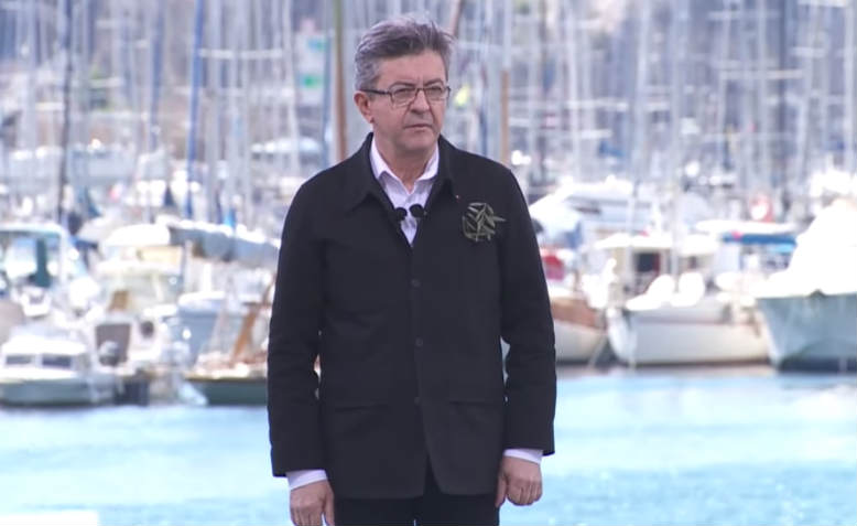 Jean-Luc Mélenchon speaking in Marseilles to a crowd of 70,000. Photo: YouTube/Jean-Luc Mélenchon
