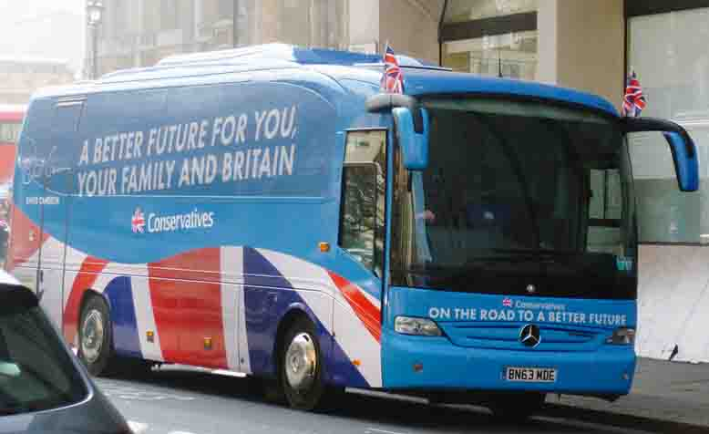 The 'Battle bus' from the Tories 2015 election campaign. Photo: Flickr / njg234908