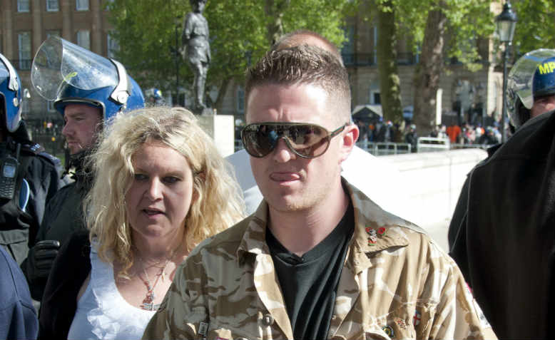 Tommy Robinson leading an EDL demonstration, London 2013. Photo: Flickr/Andy Thornley