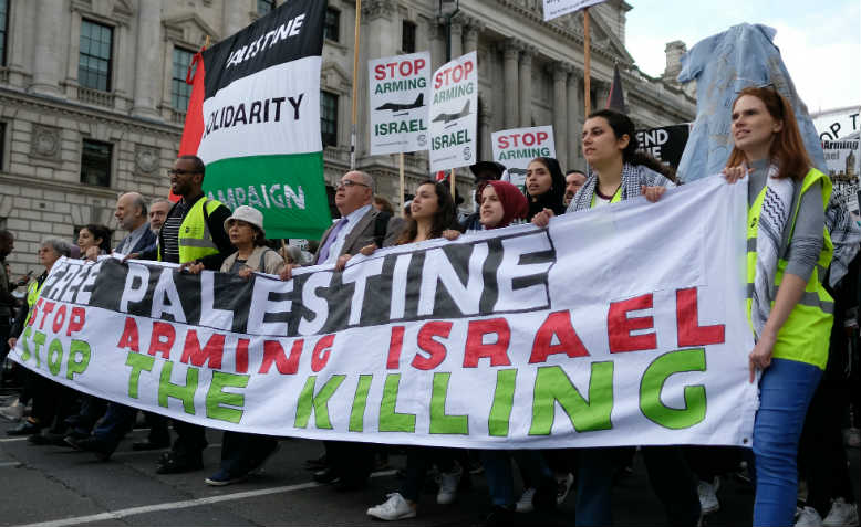 Palestine demonstration, November 2017. Photo: Flickr/Alisdare Hickson