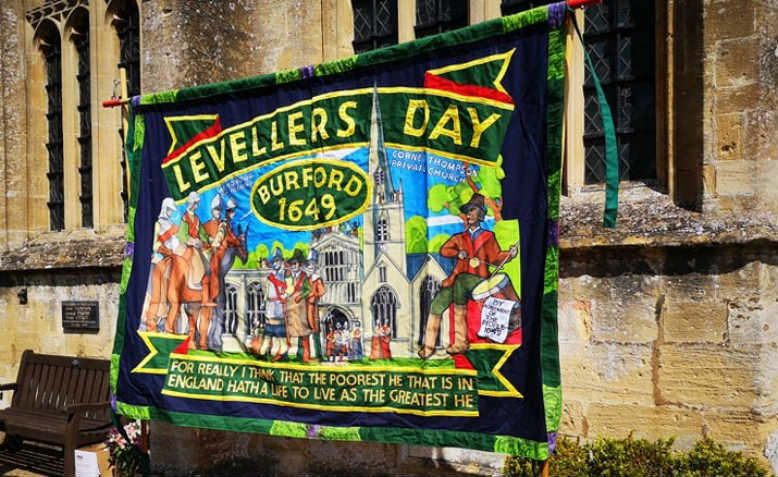 Levellers Day Banner. Photo: Cathy Augustine