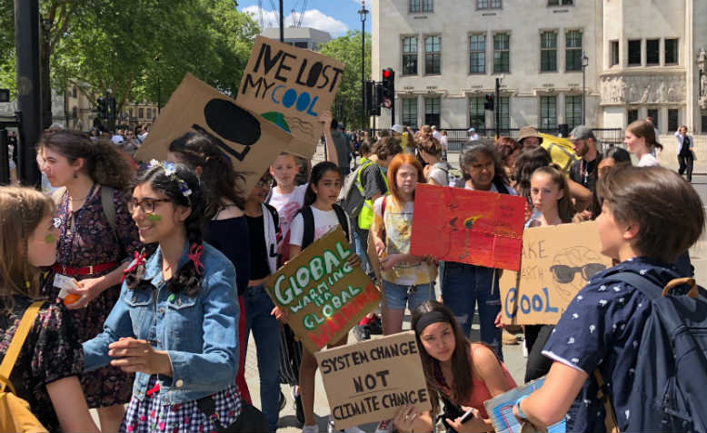 Youth Strike 4 Climate, 24 May, London. Photo: Shabbir Lakha