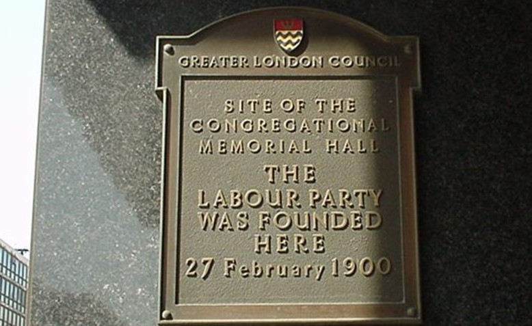 Labour Party plaque. Photo: Wikimedia Commons