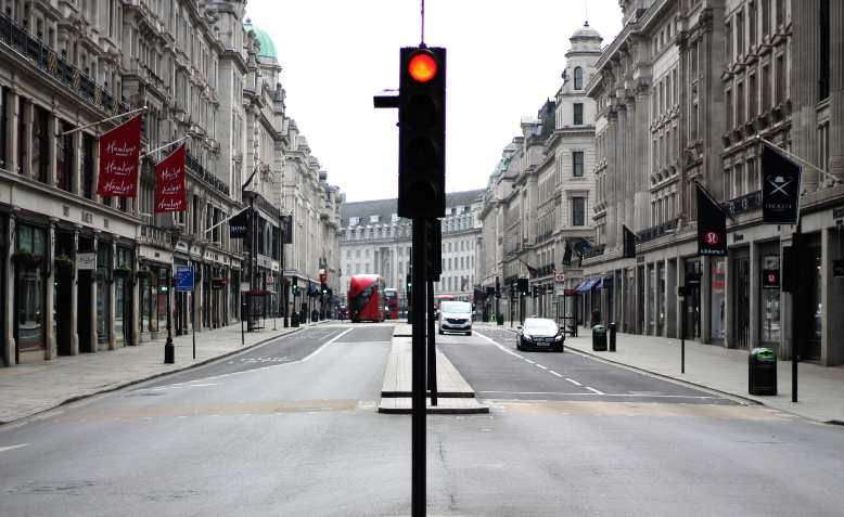 Regent Street, London, 27 April. Photo: Flickr/Domogwai