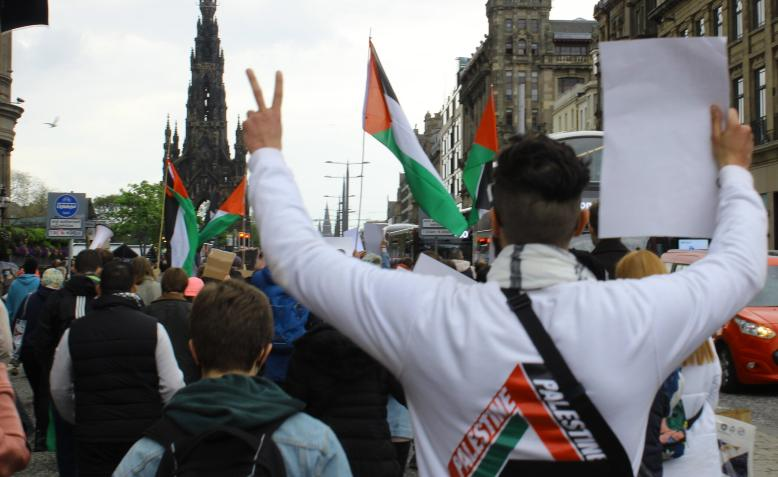 Edinburgh Palestine demonstration