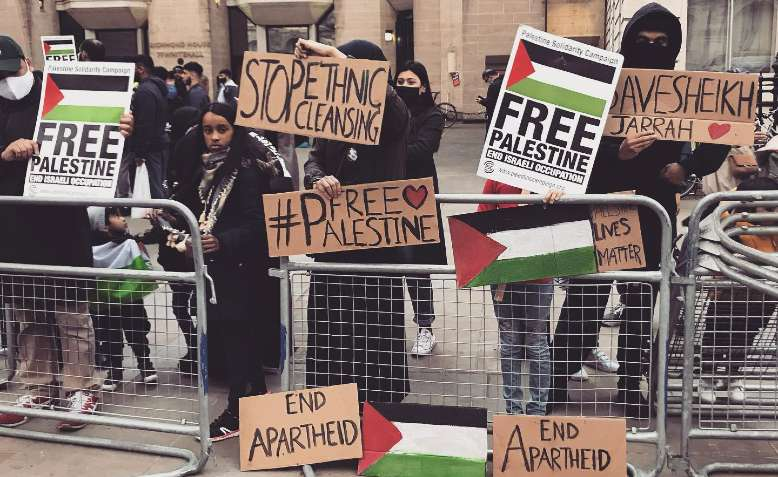 Palestine demonstration, London, 13 May