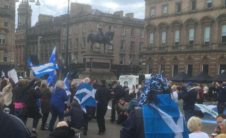 Independence rally in Glasgow, 1 May