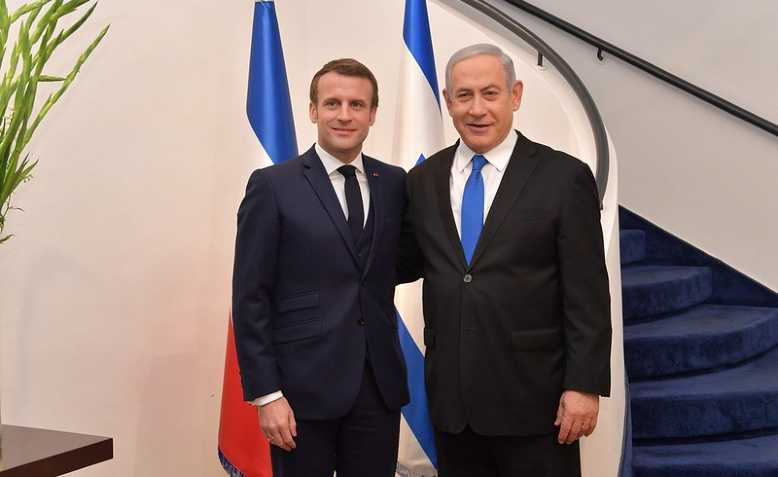 Macron meets Netanyahu. Photo: Israel Ministry of Foreign Affairs/cropped from original/licensed under CC2.0, linked at bottom of article