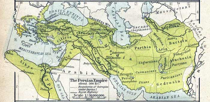The Persian Empire in 500 BCE