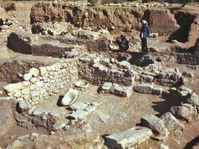 A Neolithic house at El Beidha, Jordan