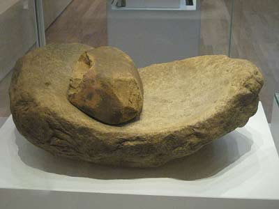 A Neolithic saddle quern