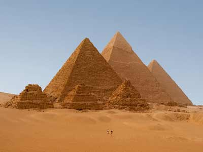 The pyramids - monuments to power and waste.