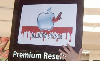 Foxconn protest: a bloody apple