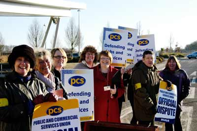 PCS pickets in Andover in March PCS strike