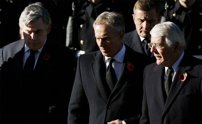 Gordon Brown, Tony Blair, and John Major