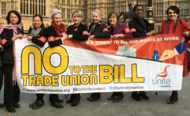 trade union bill protest