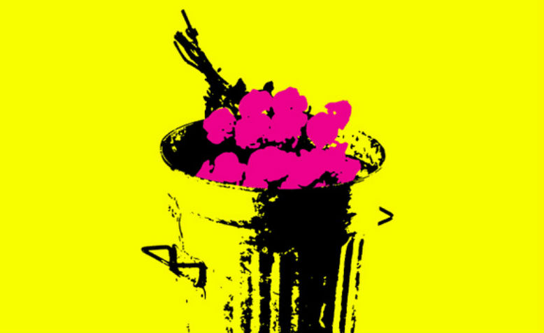 Flowers in the Dustbin. Image: Philosophy Football