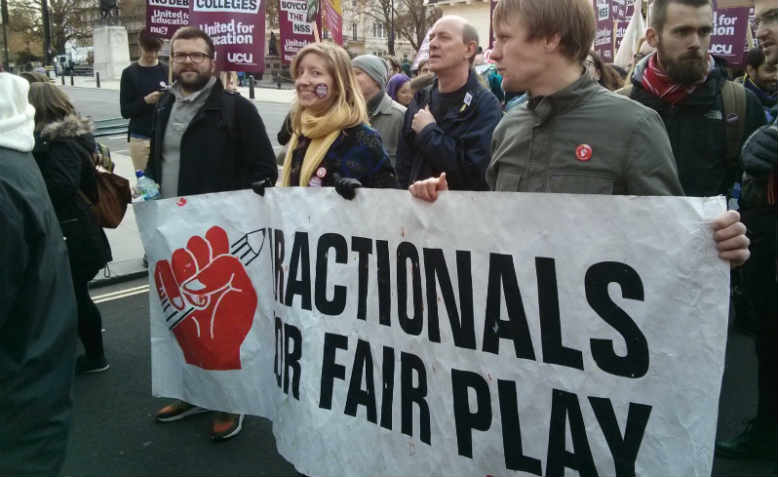 United for Education demonstration, 19 November 2016, London. Photo: FFFP