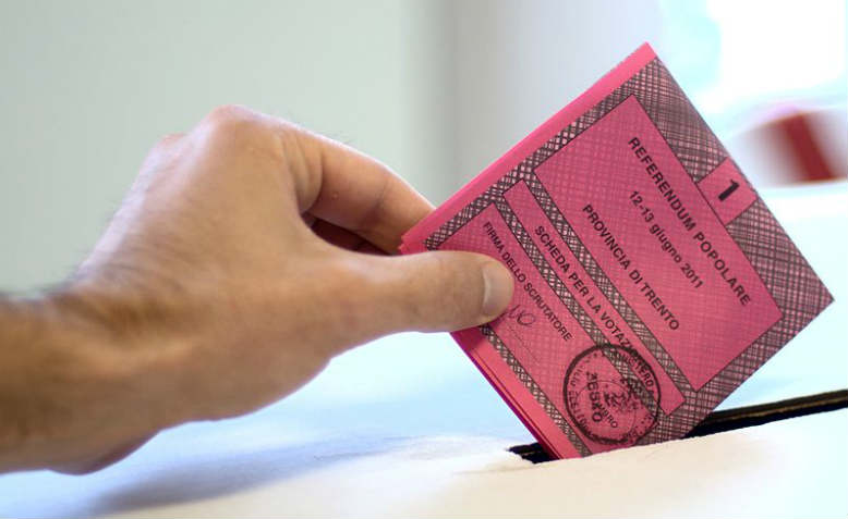 A ballot paper for an Italian referendum in 2011. Photo: Wikimedia Commons
