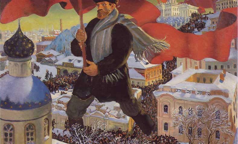 'The Bolshevik' by Boris Kustodiev, 1920. Photo: Wikimedia Commons