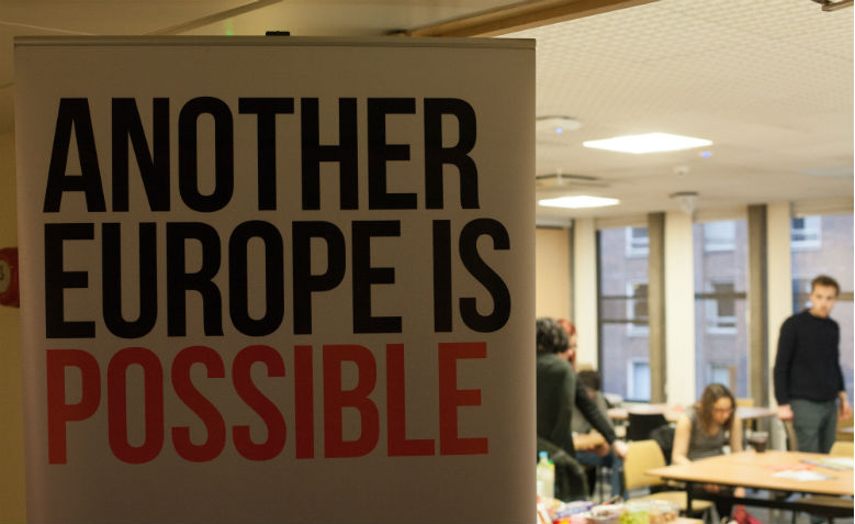 Another Europe is Possible banner. Photo: European Alternatives / Flickr
