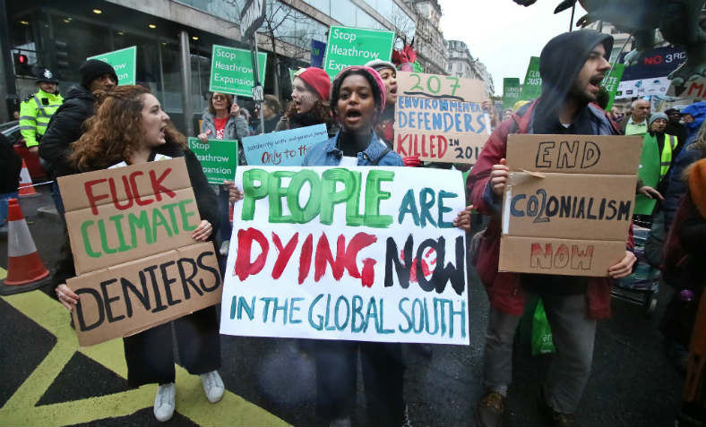 Protesters on the 'Together for Climate Justice' march on 1 December in London. Photo: Steve Eason, Flickr.