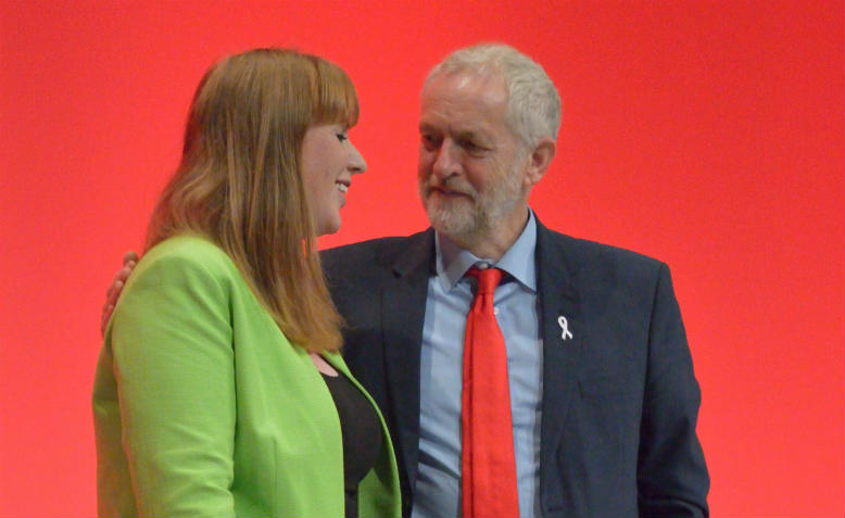 Jeremy Corbyn and Angela Rayner at Labour Party Conference, 2016. Photo: Wikimedia Commons