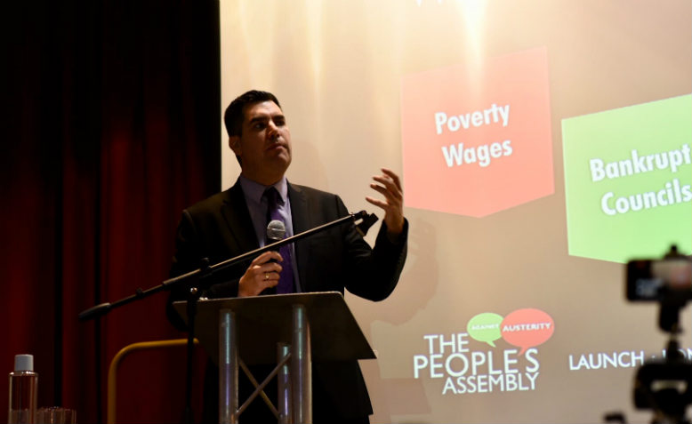 Richard Burgon MP speaking at the Britain is Broken launch. Photo: Jim Aindow