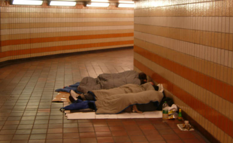 Homeless people sleeping rough. Photo: Wikimedia Commons