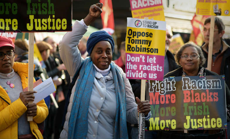 Unity Demo against Fascism and Racism, called by Stand Up to Racism, November 17 2018, London. Photo: Jim Aindow