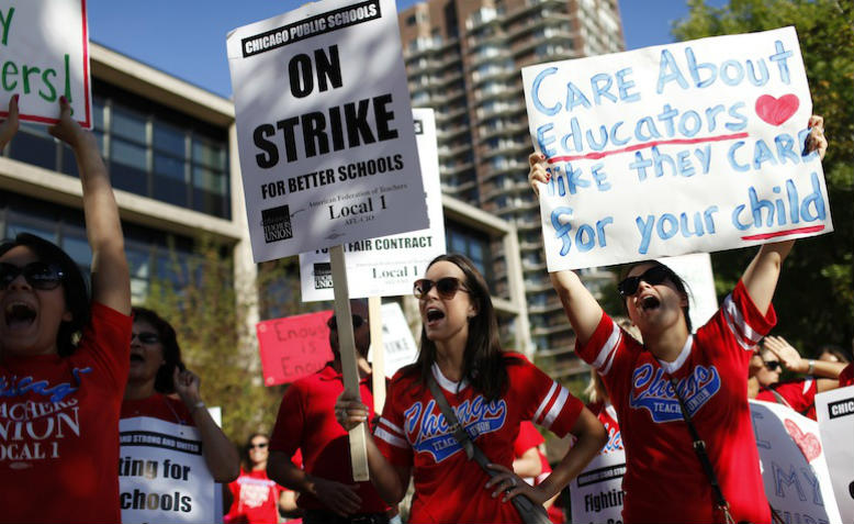Chicago Teachers' Strike 2012. Photo, TMT via flickr