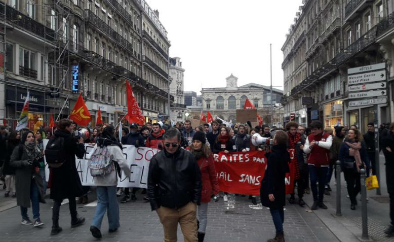 General strike in Paris, December 2019. Photo: Révolution Permanente via Facebook