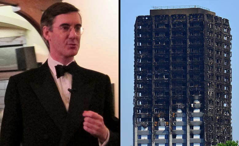 Jacob Rees-Mogg, Grenfell Tower