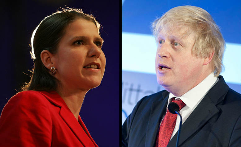 Jo Swinson, Photo: Flickr/Liberal Democrats. Boris Johnson, Photo: Flickr/Financial Times