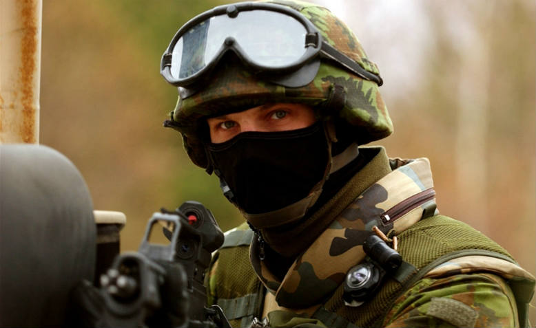 Soldier at a NATO training exercise. Photo: EU COM