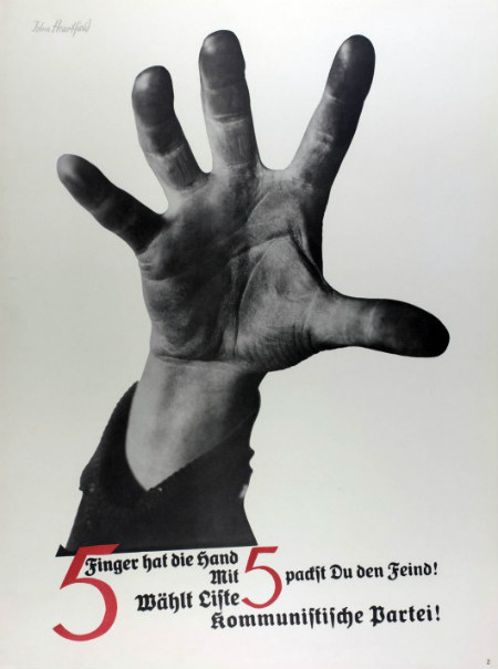 The Hand Has Five Fingers, John Heartfield, 1928