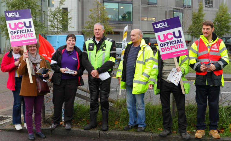 UCU picket line, 2013. Photo: Wikimedia Commons