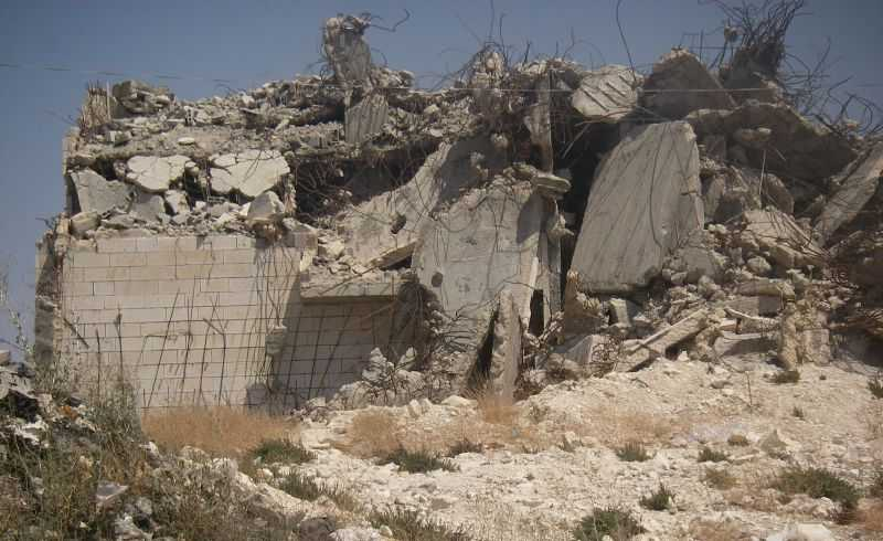 Demolished Palestinian home. Photo: Joe Skillet/cropped from original/licensed under CC2.0, linked at bottom of article