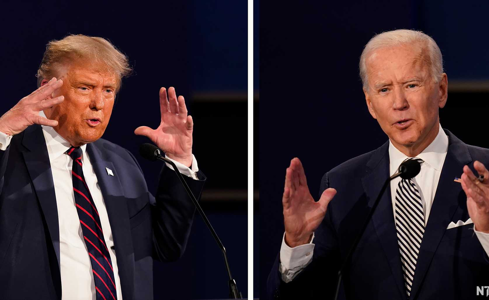 Trump & Biden, 1st TV debate, 2020. Photo: Patrick Semansky/cropped from original/licensed under CC4.0, linked at bottom of article