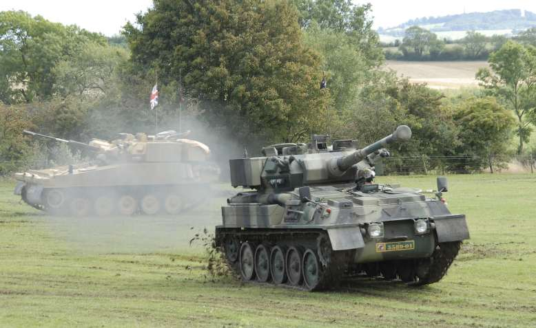 UK military tanks