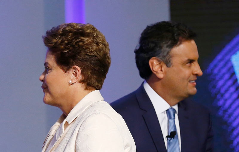 Dilma Rouseff and Aécio Neves